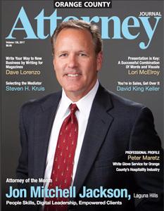 Orange County Attorney Journal Magazine Profile