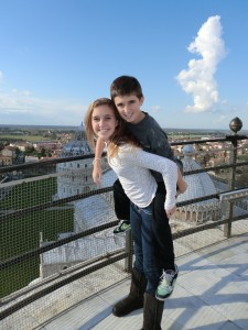 AJ & Garrett At The Leaning Tower of Pisa