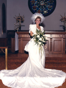 Lisa Wilson In Wedding Dress