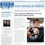 Child Safety Seats in You Should Know Newsletter by Orange County Personal Injury and Wrongful Death Lawyers